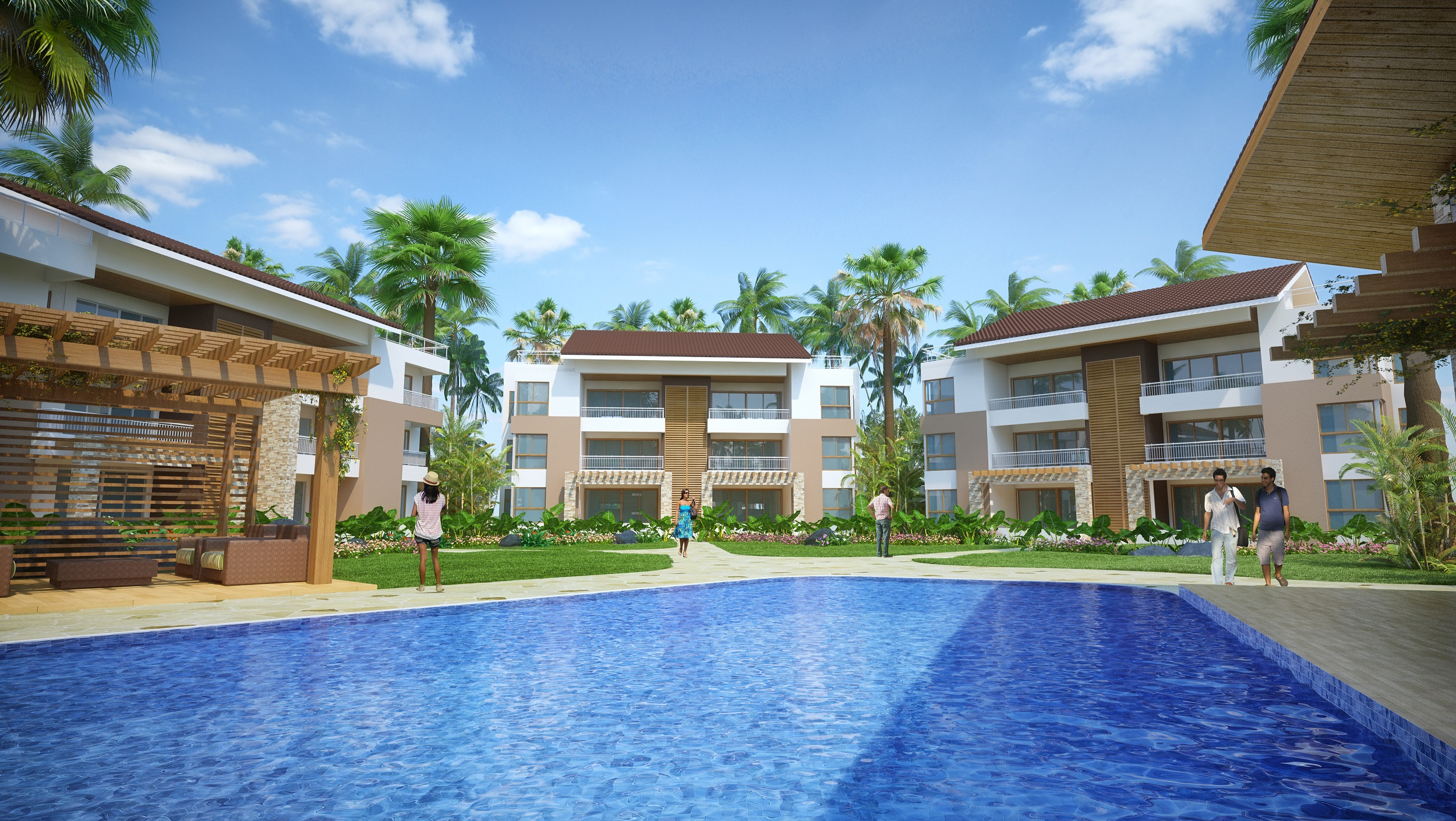 A454LT - 2 Bed 2.5 Bath condo's in a beachfront residence - starting from $198,000 USD