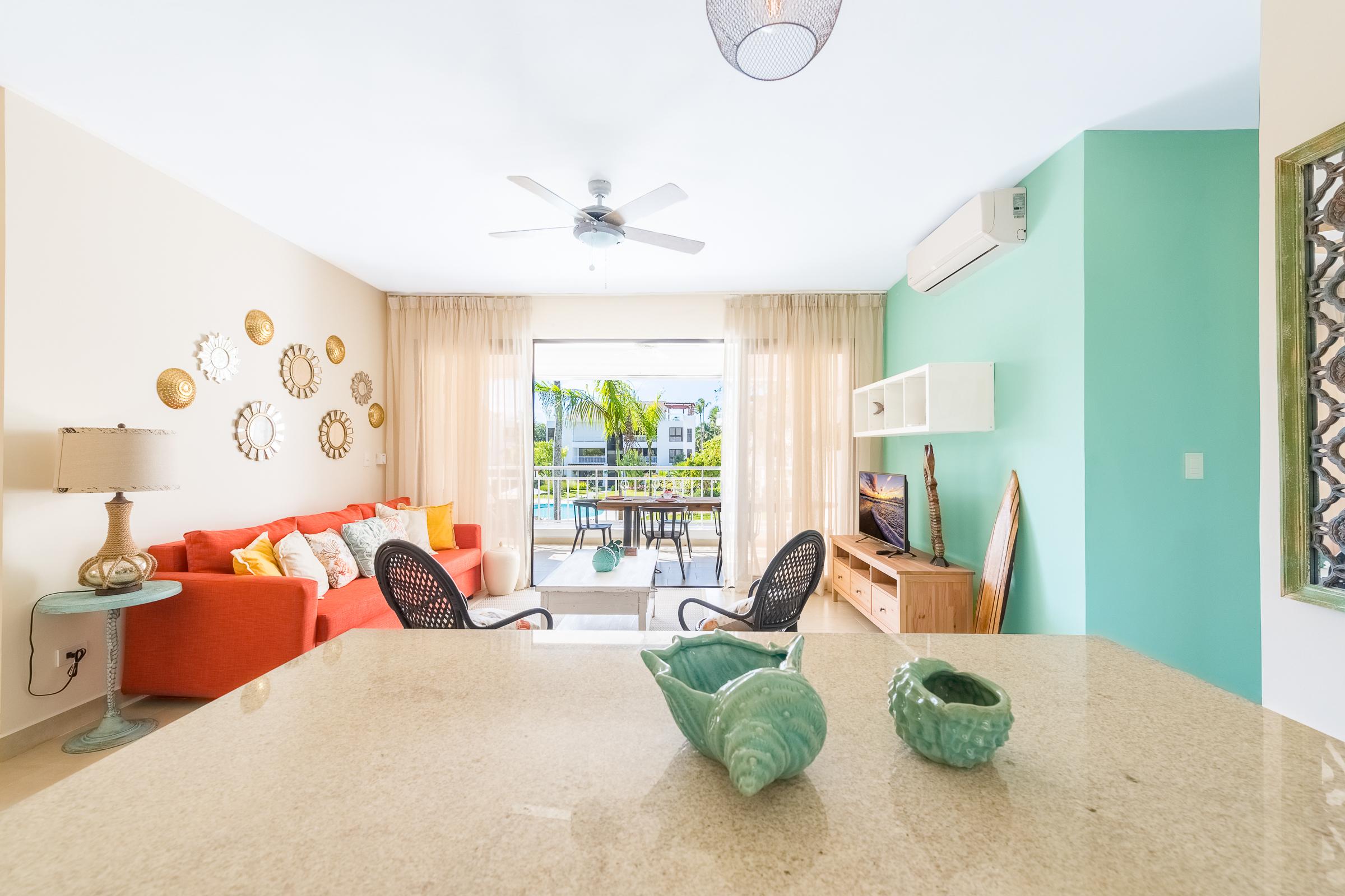 RENTAL : SEAHORSE, LOS COCOS, PLAYA BONITA 2 BEDS (MAX 6)